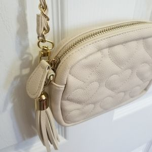 Forever 21 Heart Quilted Small Bag